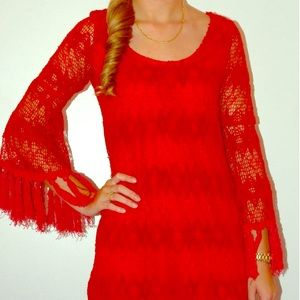 Voom by Joy Han RED Corrine Bell Dress M